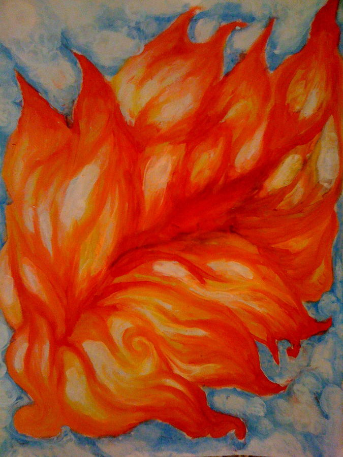 Flame Painting - Flames by Lydia Erickson
