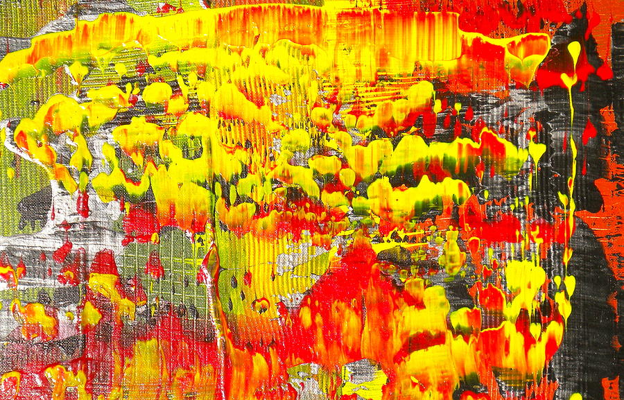 Flames Of Abstract 4 Painting by Dylan Chambers