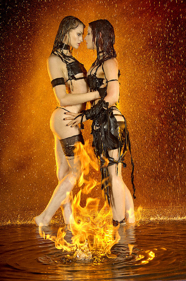 Female Photograph - Flames Of Attraction by Adam Chilson