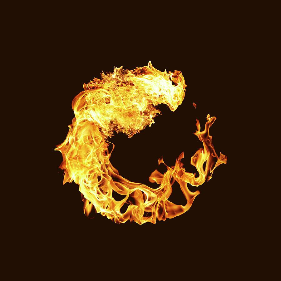 Flames Of Fire Making Circle Photograph By Yamada Taro