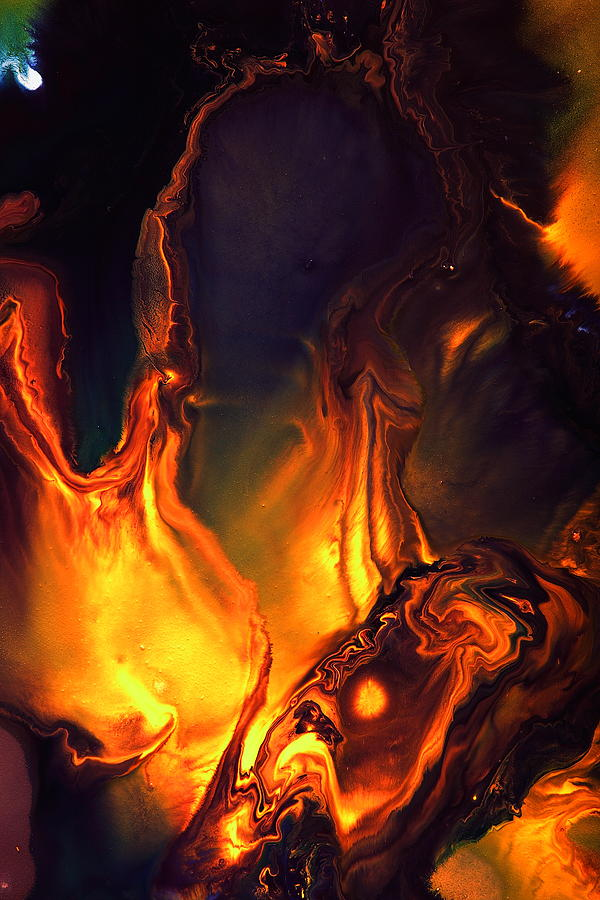 Flames of Love - Liquid Abstract Art by kredart by Serg Wiaderny