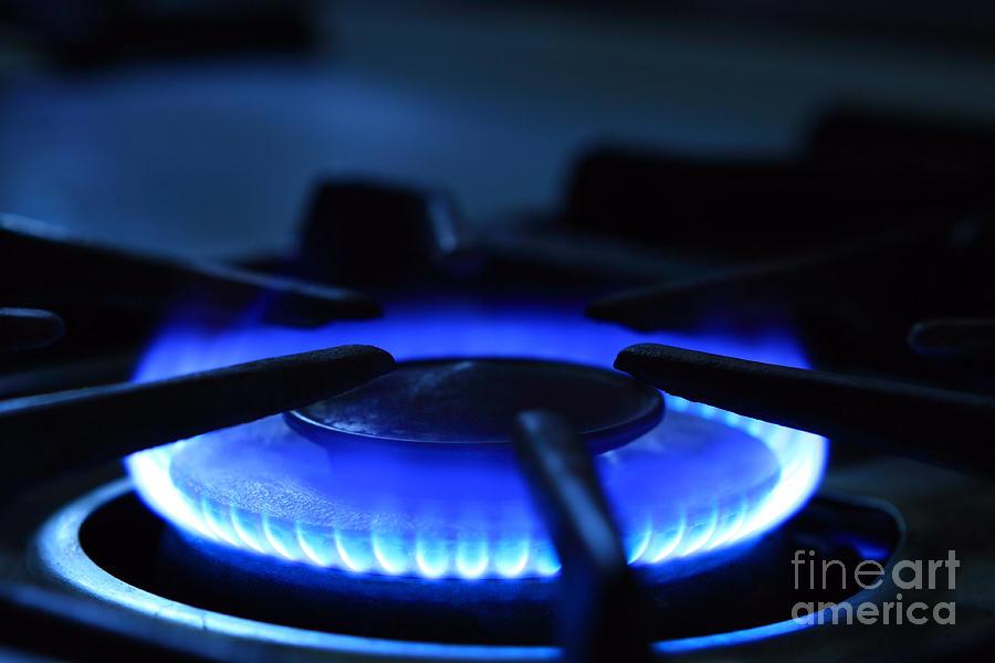 gas stove flame. Flame Photograph - Flaming Blue Gas Stove Burner By John Stephens