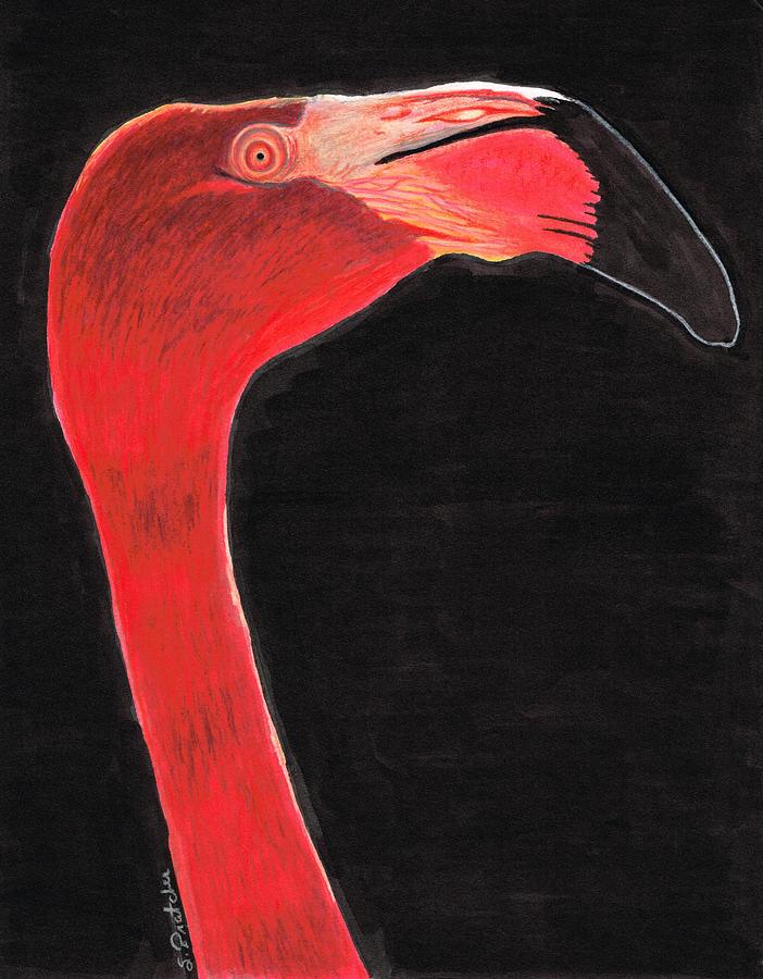Flamingo Painting - Flamingo Art By Sharon Cummings by Sharon Cummings