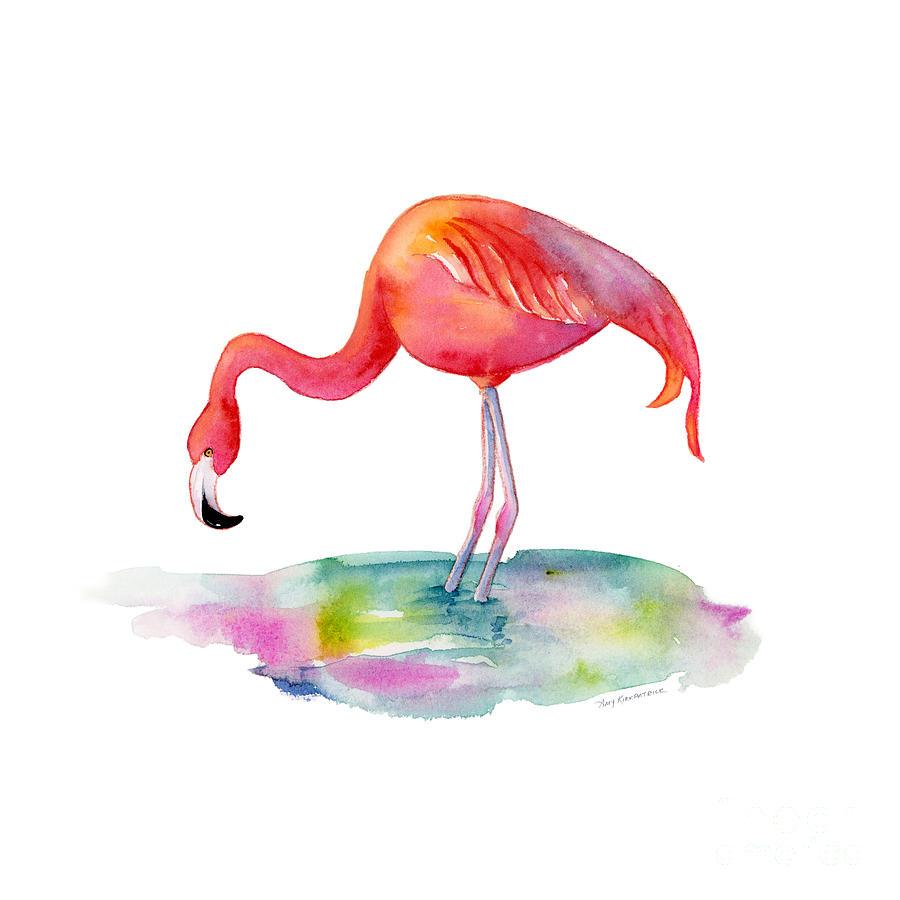 Flamingo Dip Painting