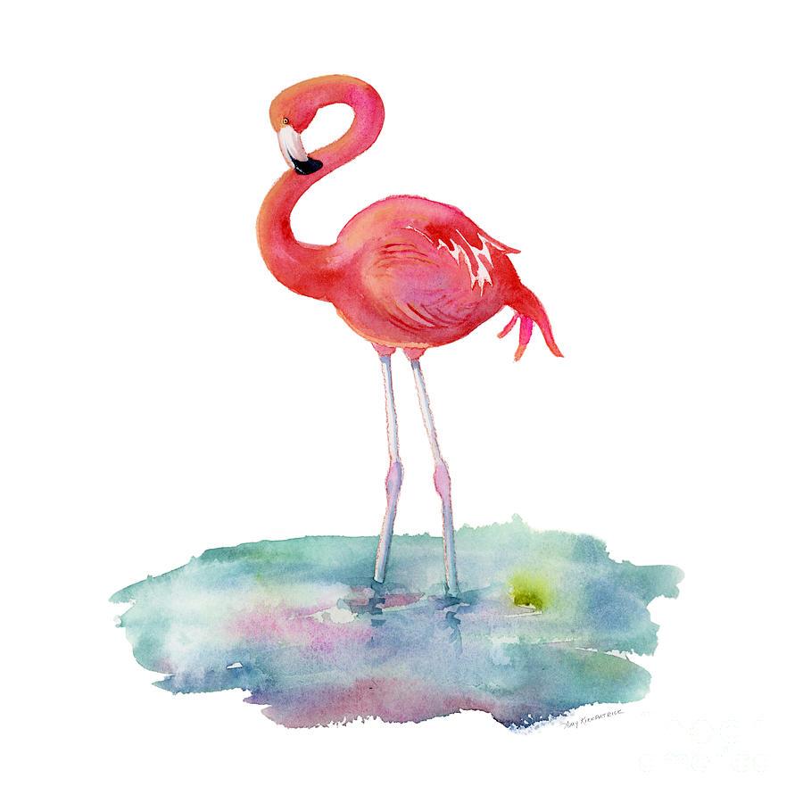 Flamingo Pose Painting