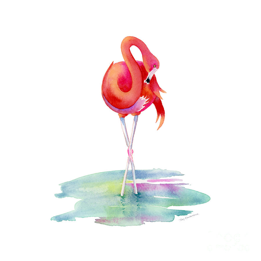 Flamingo Primp Painting