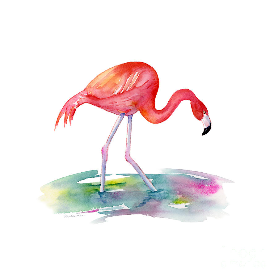 Flamingo Step Painting