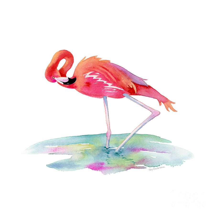 Flamingo View Painting