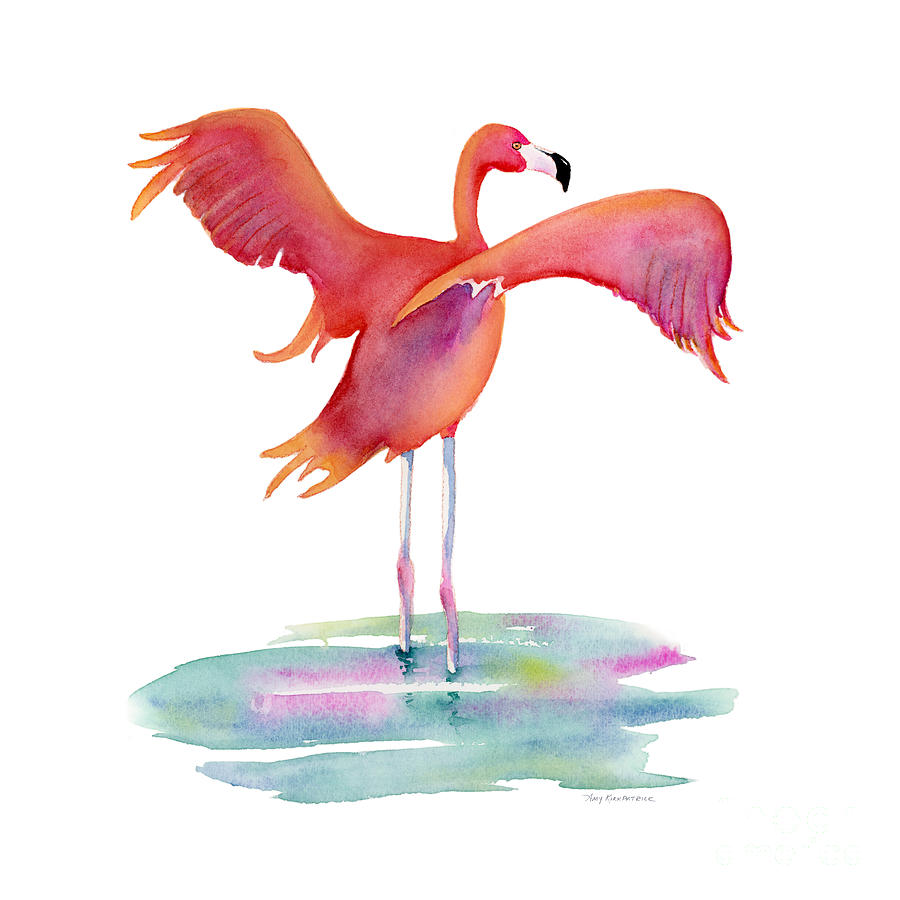 Flamingo Wings Painting
