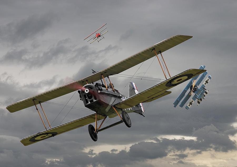 Aircraft Digital Art - Flanders Skies by Pat Speirs