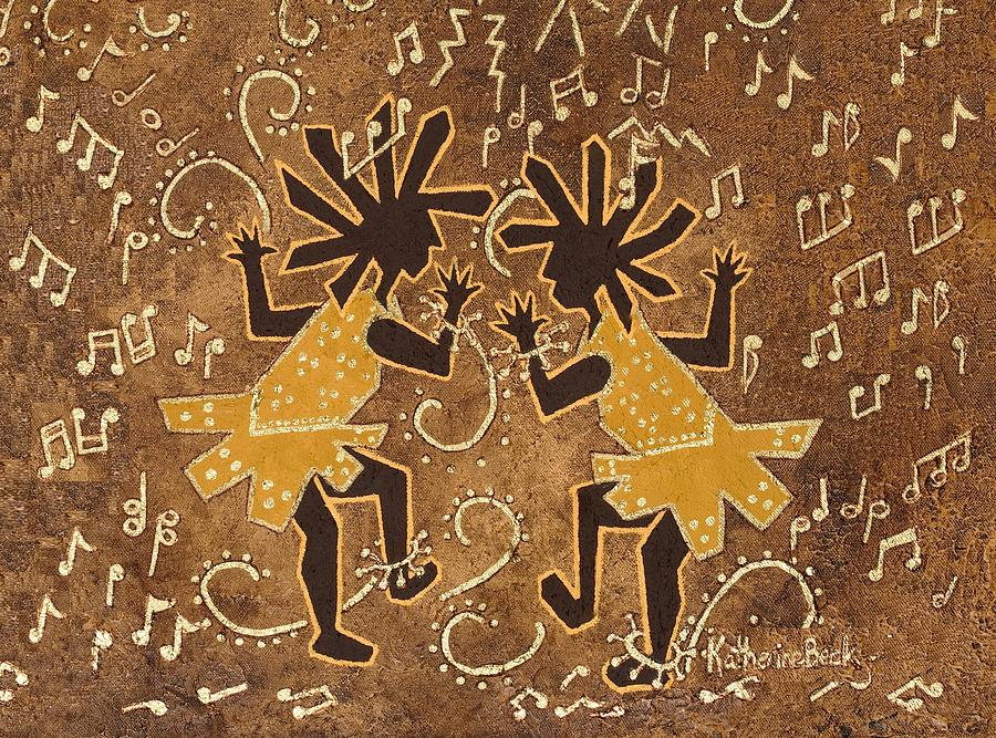 Kokopelli Painting - Flappers by Katherine Young-Beck