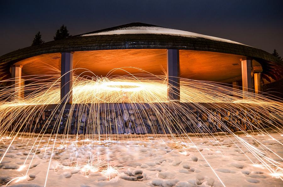 Steel Wool Photograph - Flare by Mark Miller