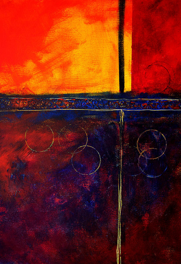 Abstract Painting - Flash Abstract Painting by Nancy Merkle