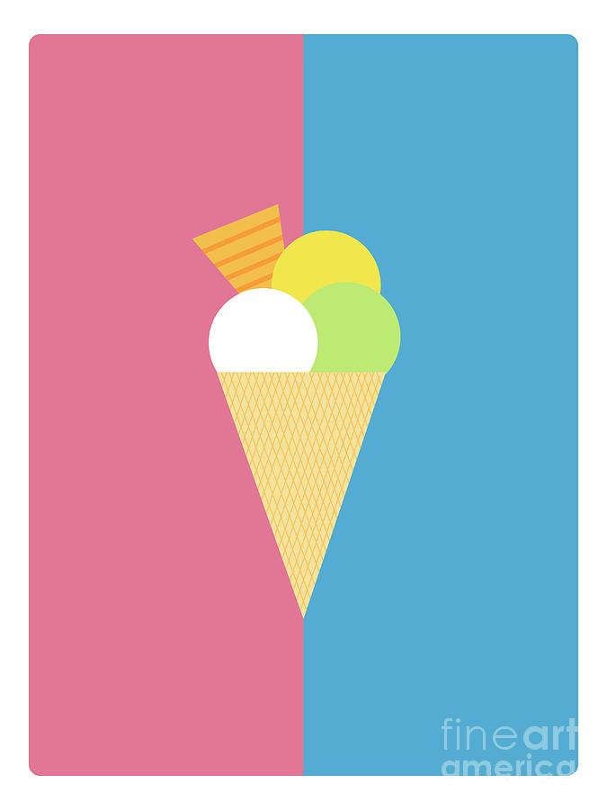 Commercial Digital Art - Flat Design Ice Cream by Michal Hostovecky