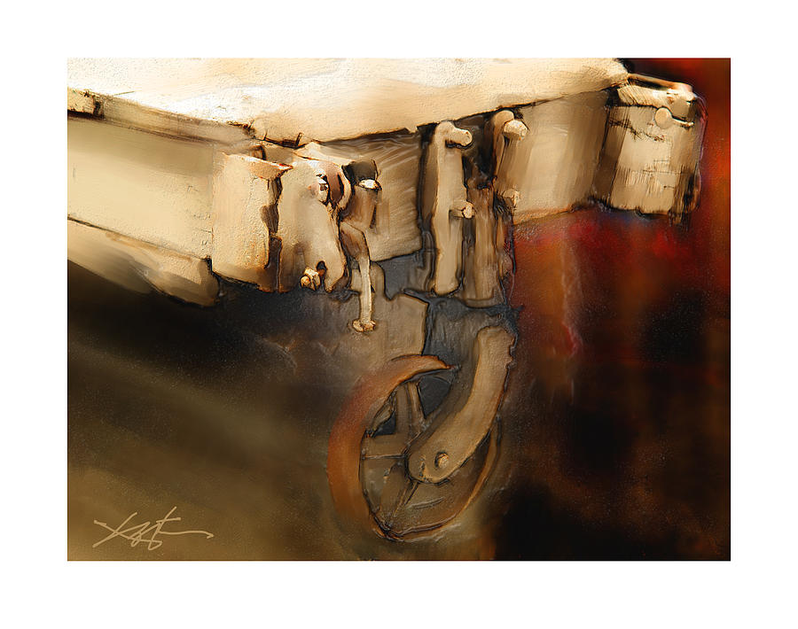 Wagon Painting - Flatbed Trolley by Bob Salo