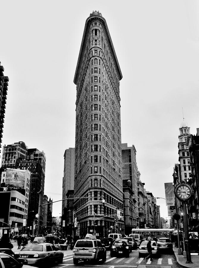 Flatiron Black And White Photograph