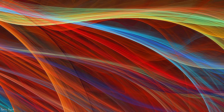 Red Digital Art - Flaunting Colors by Lourry Legarde