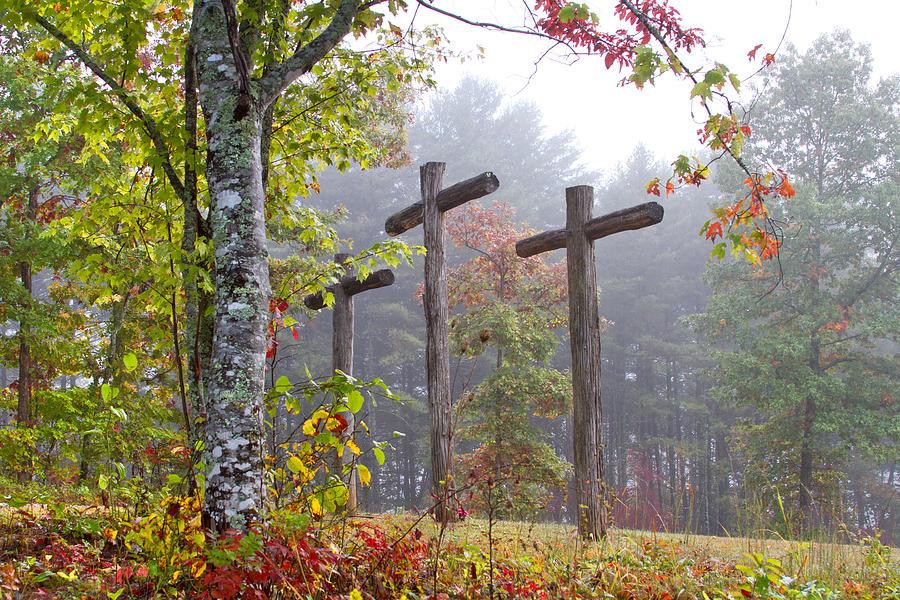 Appalachia Photograph - Flax Creek In The Fog by Debra and Dave Vanderlaan