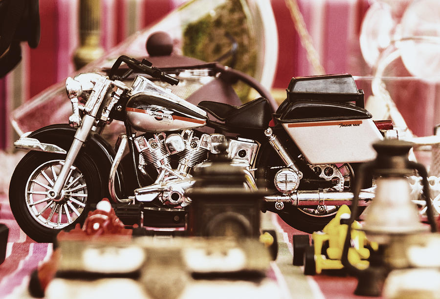 Europe Photograph - Flea Market Series - Motorcycle by Marco Oliveira