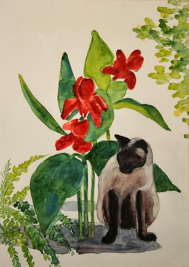 Flealing Painting by Helen Hickey