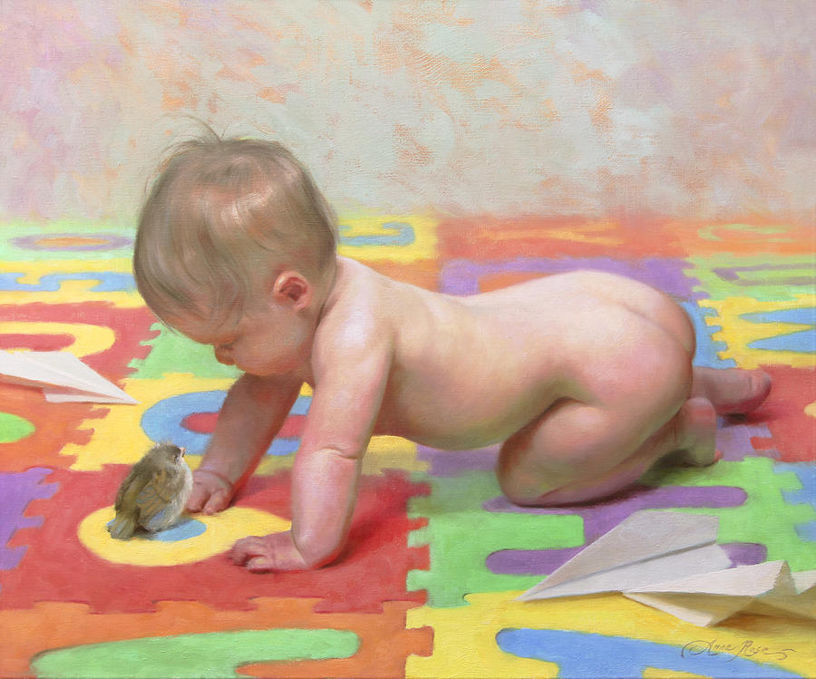 Fledgling Painting - Fledglings by Anna Bain