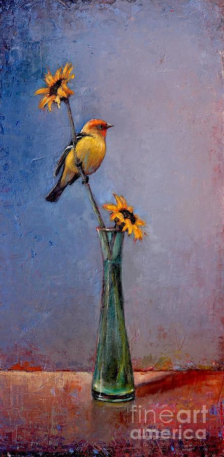 Bird Painting - Fleeting Summer by Lori  McNee