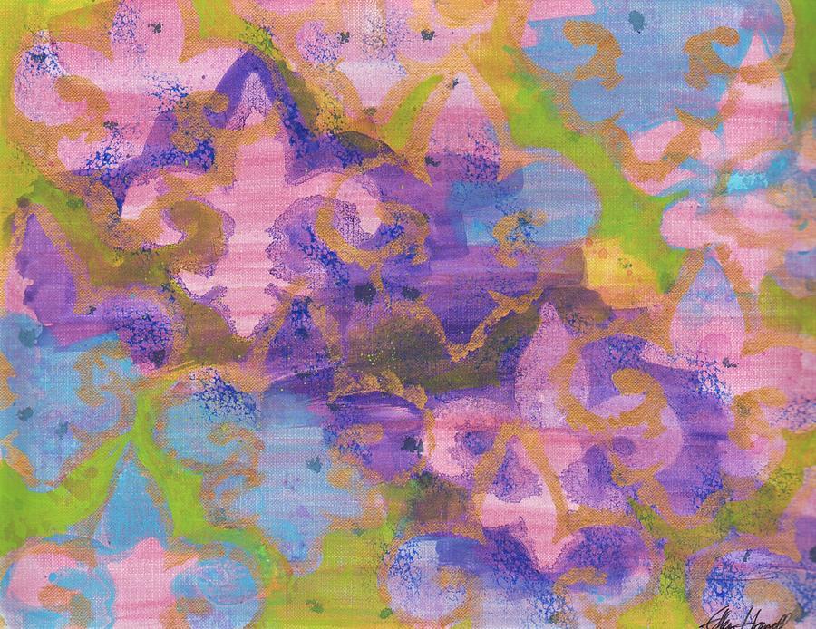 Fleur De Lis Painting - Fleur De Lis 1 by Ellen Howell