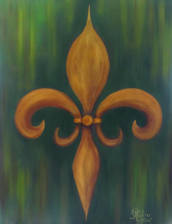 Fleur-de-lis Painting by Sandra Reeves