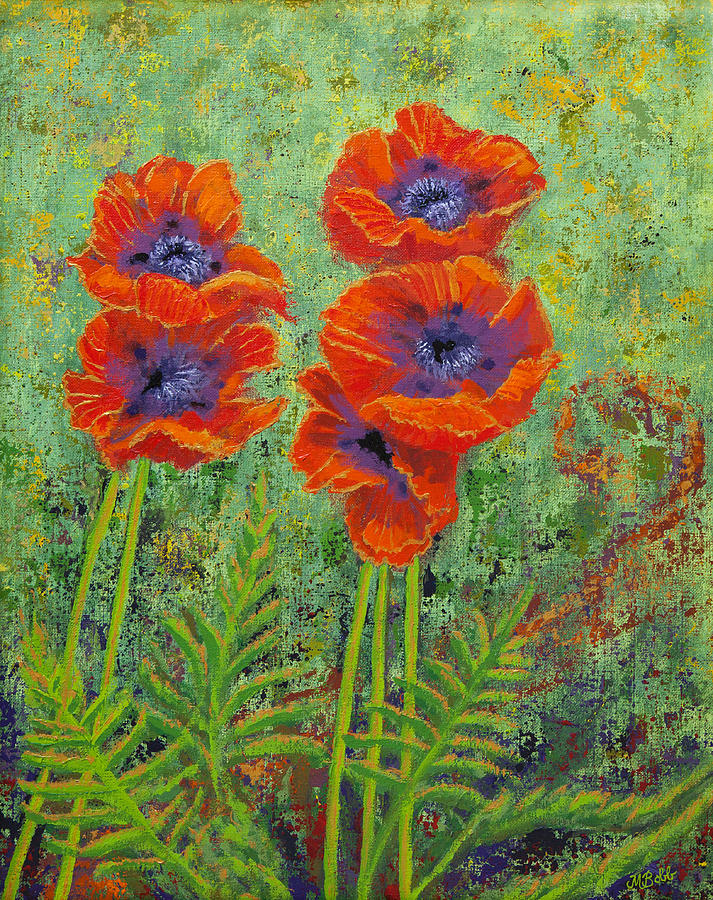 Poppies Painting - Fleurs des Poppies by Margaret Bobb