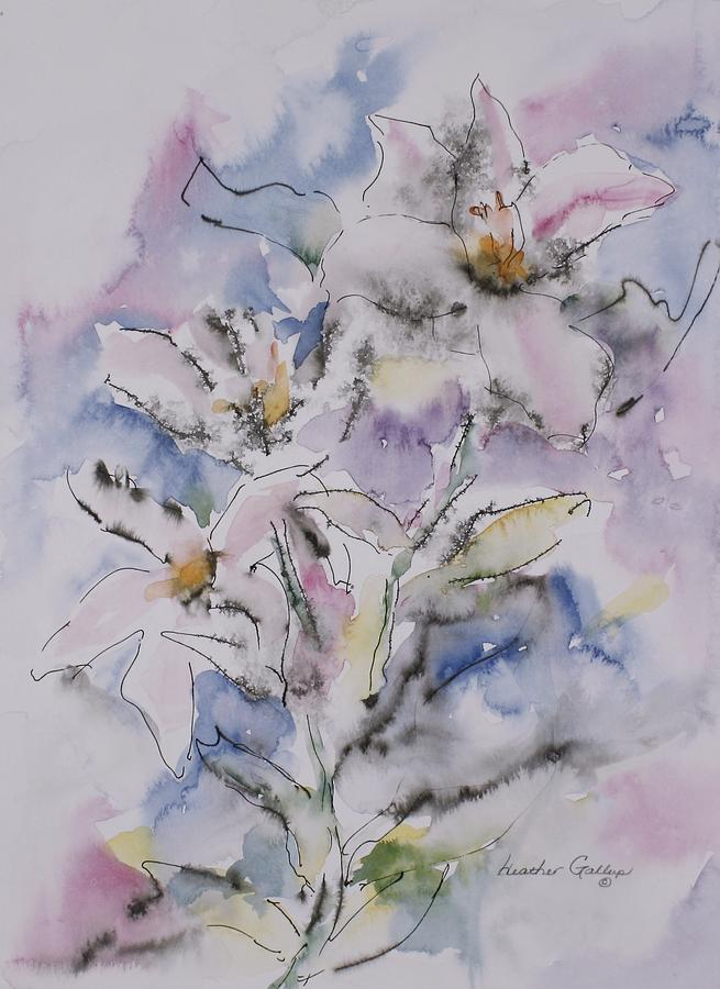 Flowers Painting - Fleurs by Heather Gallup