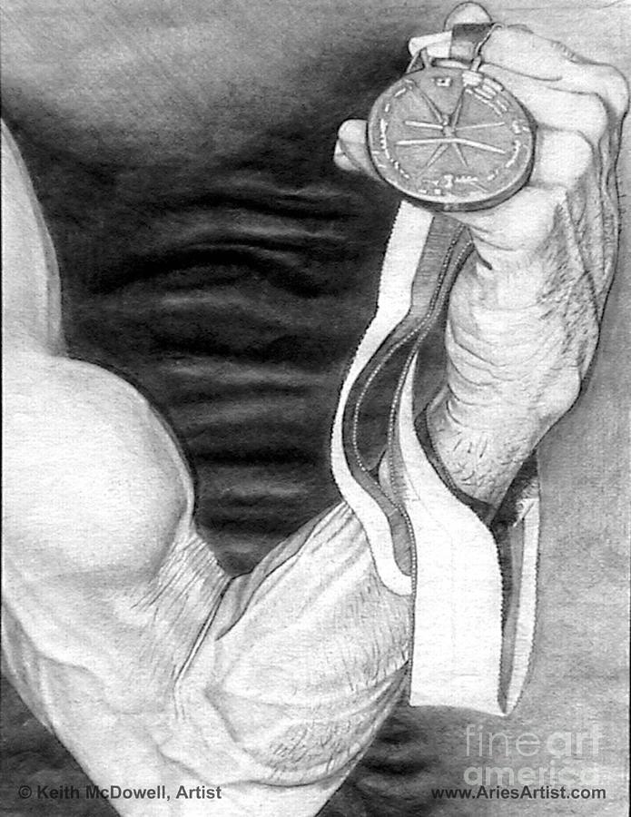 Muscle Drawing - Flex @ Ariesartist.com by AriesArtist Com