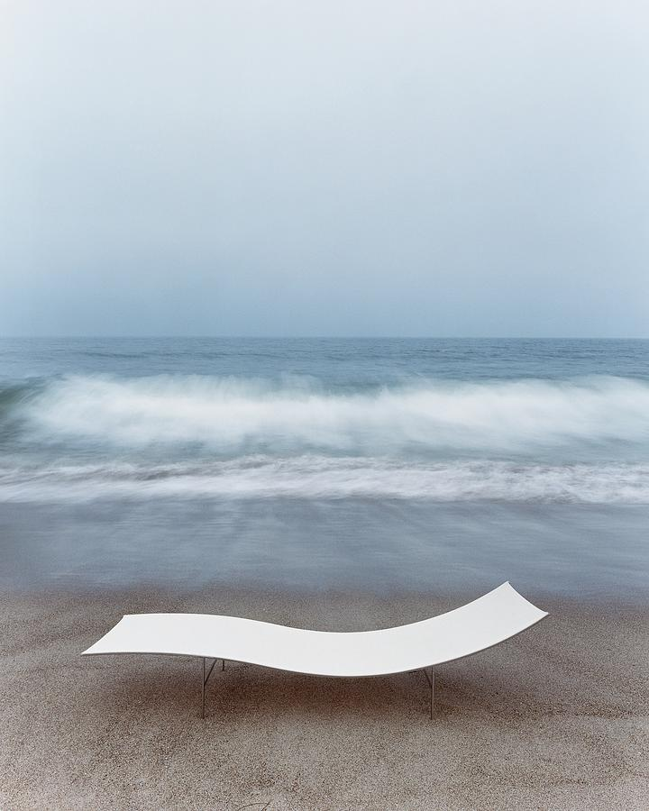 Flexy Batyline Mesh Curve Chaise On Malibu Beach Photograph by Simon Watson