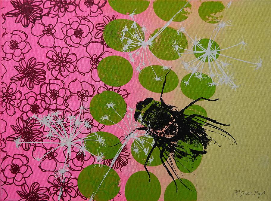 Popart Painting - Flies by Bitten Kari