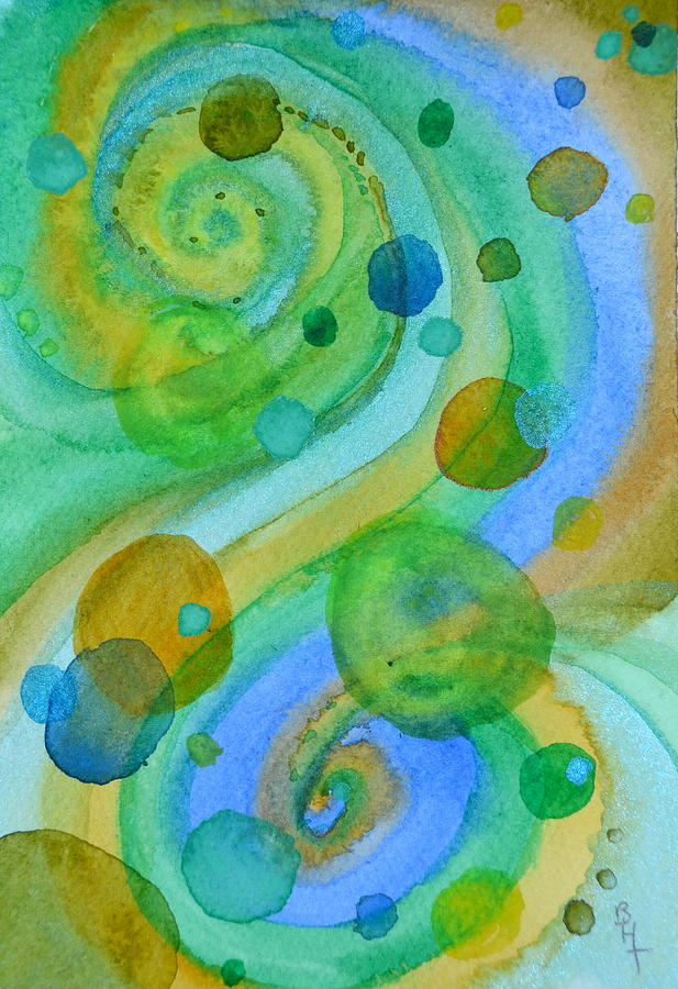 Abstract Painting - Flight 319 by Beverley Harper Tinsley