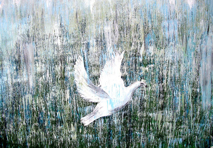 Flight Painting - Flight Against Odds by Karunita Kapoor