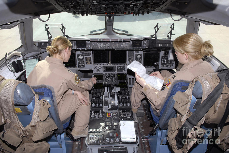 Horizontal Photograph - Flight Captains Review Flight by Stocktrek Images