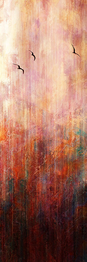 Abstract Landscape Painting - Flight Home - Abstract Art by Jaison Cianelli
