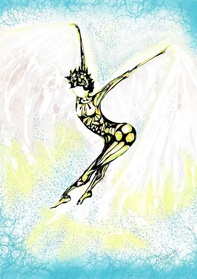 Dancer Digital Art - Flight by Karen  Renee
