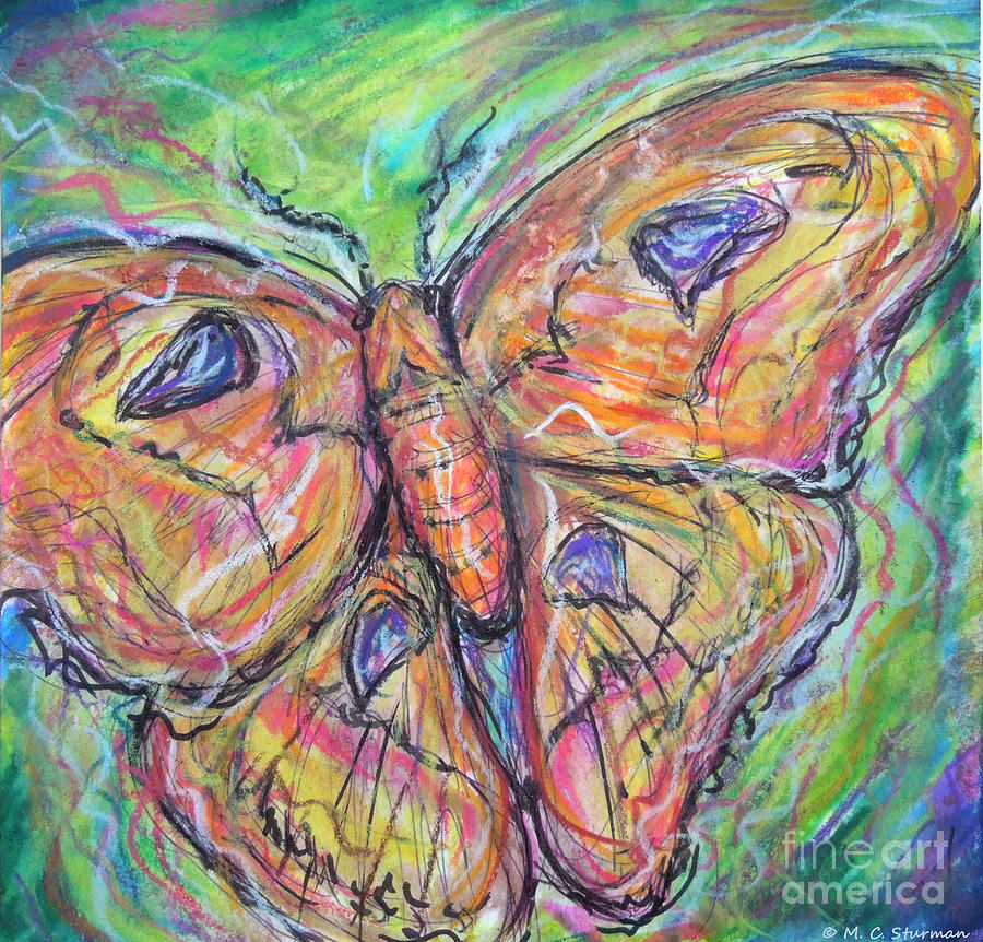 Moth Painting - Flight Of The Moth by M c Sturman