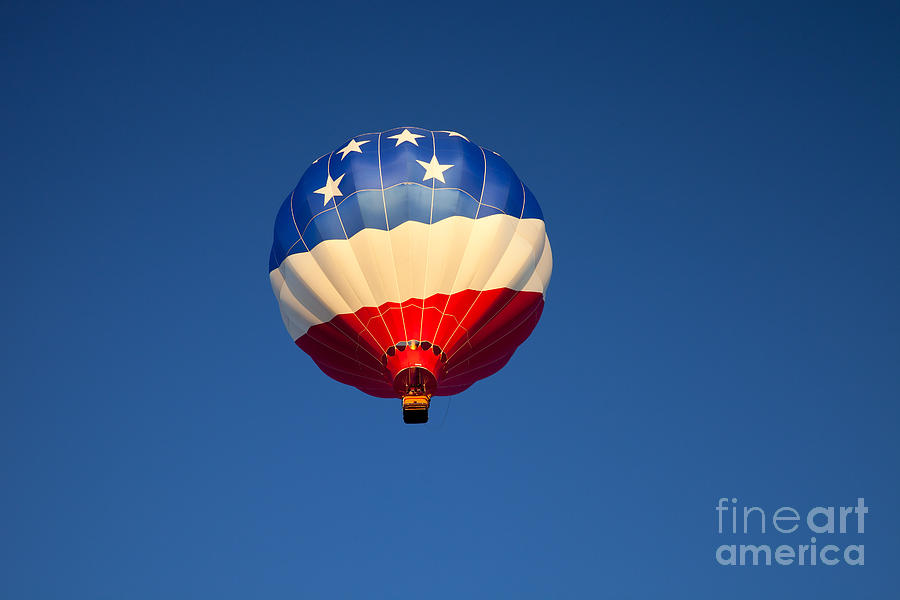 Balloon Photograph - Flight Of The Patriot by Mike  Dawson