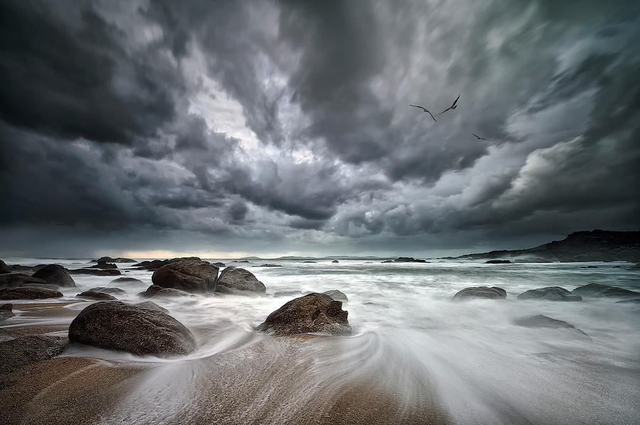 Landscape Photograph - Flight Over Troubled Waters by Santiago Pascual Buye