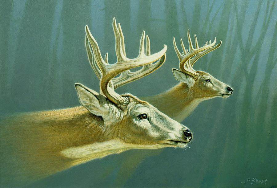 Wildlife Painting - Flight by Paul Krapf