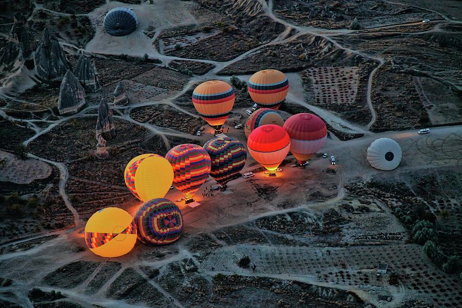 Cappadocia Photograph - Flight Preparation by Ayse Yorgancilar