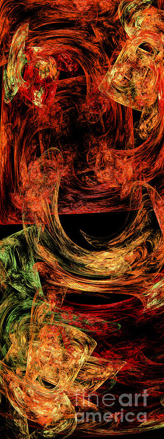 Abstract Digital Art - Flight To Oz by Andee Design