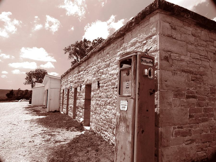 Flint Hills Gas Station Photograph by Ed Golden