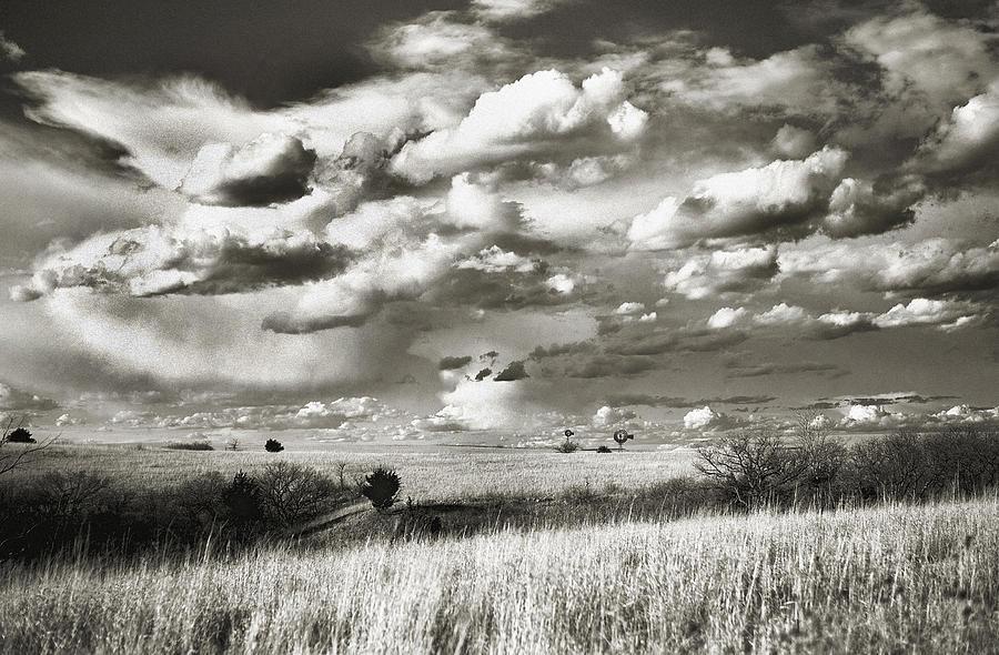 Flint Hills Of Kansas Photograph - Flint Hills Prairie by Thomas Bomstad