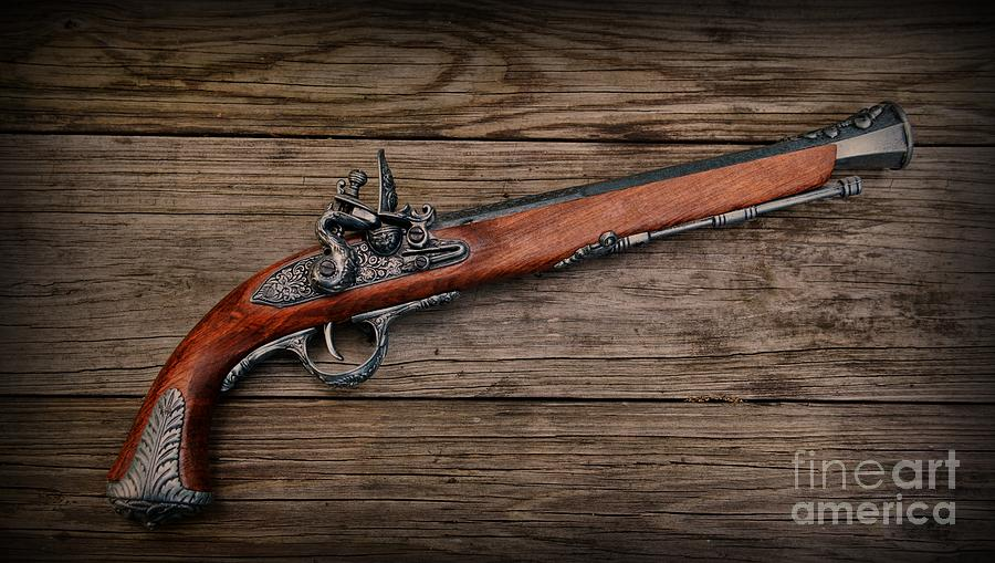 Pistol Photograph - Flintlock Blunderbuss Pistol by Paul Ward
