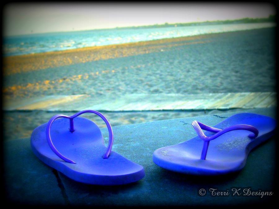 Flip Flops Photograph - Flip Flop by Terri K Designs