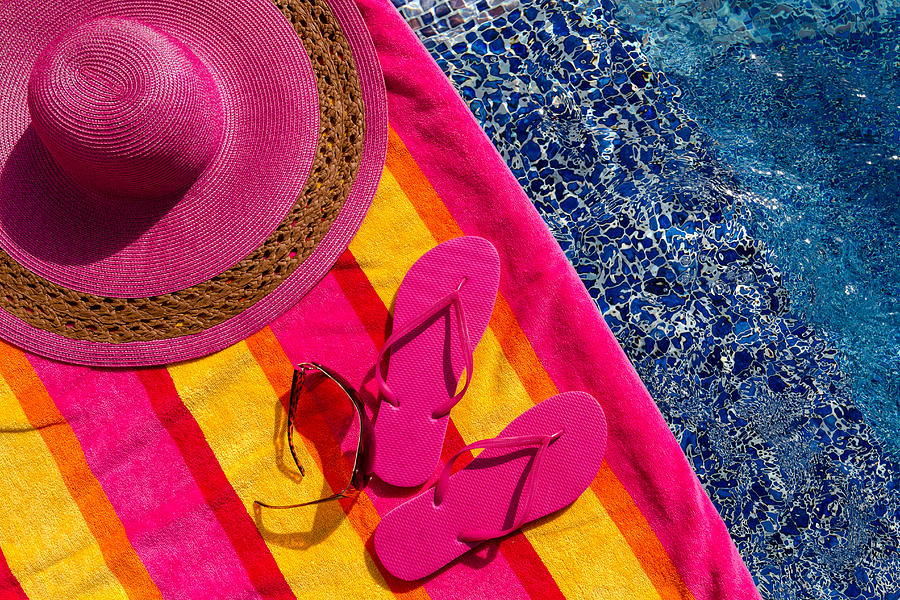 c8789729751a Flip Flops By The Pool Photograph by Teri Virbickis