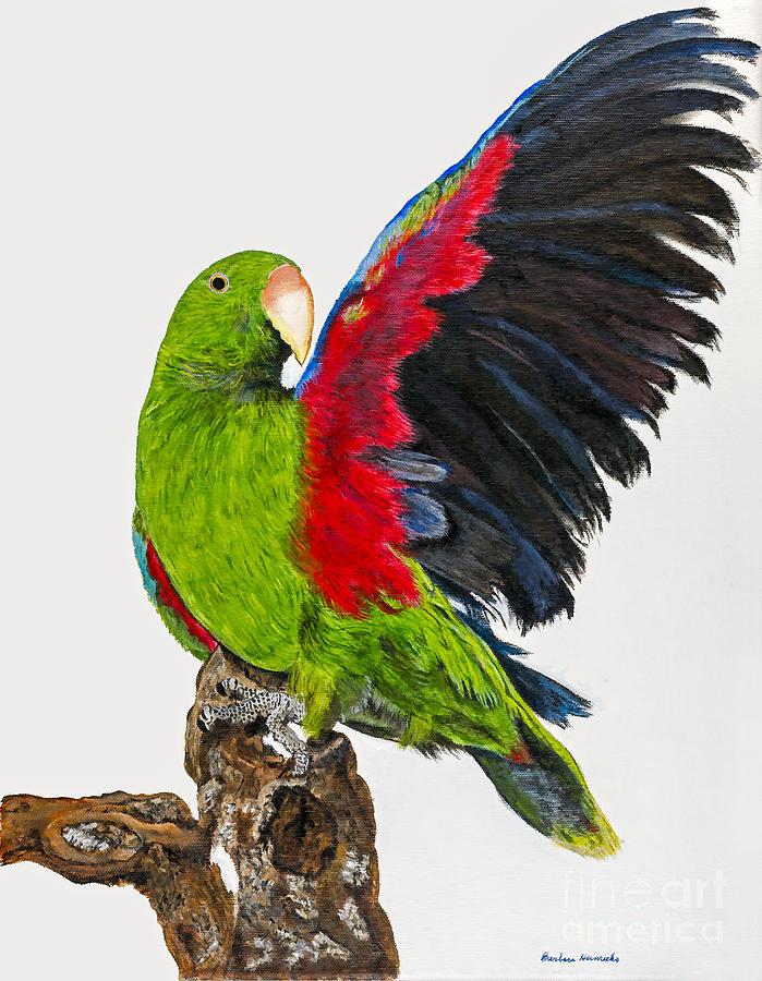 Parrot Painting - Flirting Parrot By Barbara Heinrichs by Sheldon Kralstein